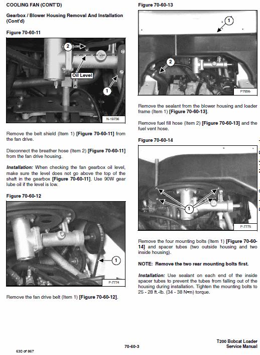 Bobcat T200 Loader Service Manual