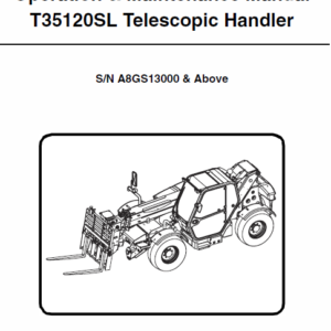 Bobcat T35100, T35100S, T35100L, T35100SL, T35120L, T35120SL Telescopic Manual