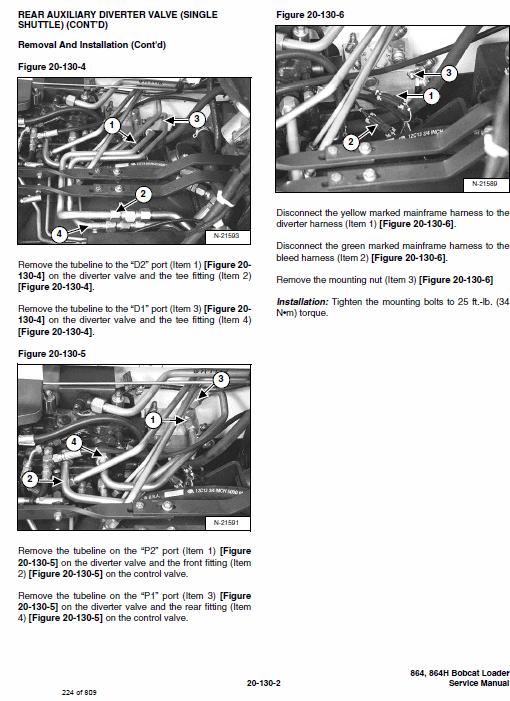 Bobcat 864 and 864H Skid-Steer Loader Service Manual