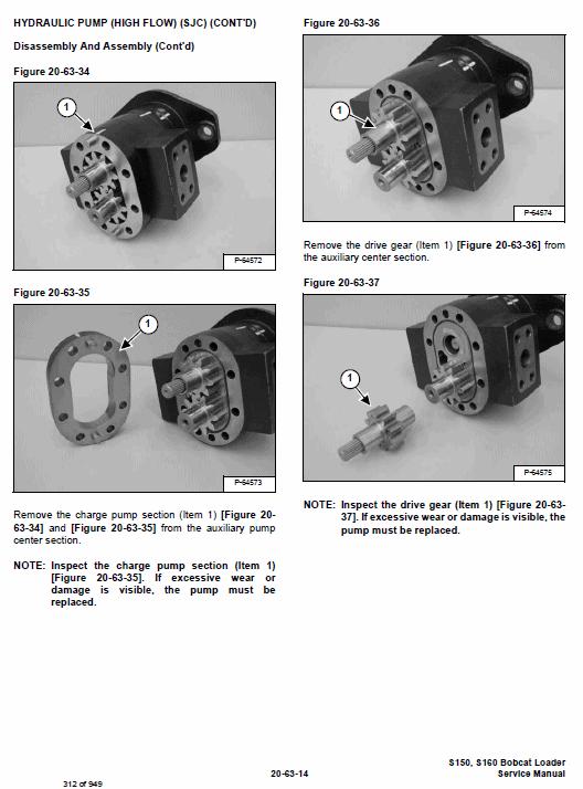 Bobcat S150 and S160 Skid-Steer Loader Service Manual
