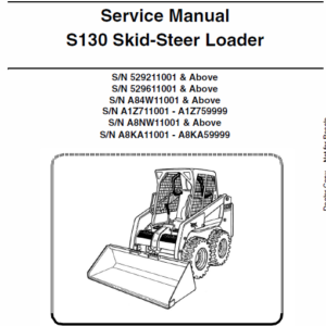 Bobcat S130 Skid-Steer Loader Service Manual