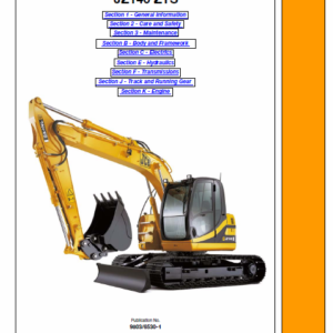 Jcb Jz140 Tracked Excavator Service Manual