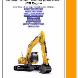JCB JS115, JS130, JS145, JS160, JS180, JS200, JS210, JS220 Excavator Service Manual
