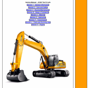 Jcb Js360 Tier 3 Auto Tracked Excavator Service Manual