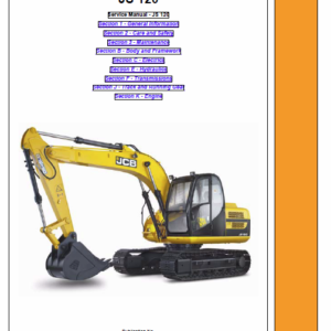 Jcb Js120 Tracked Excavator Service Manual