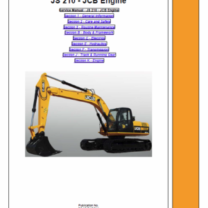 Jcb Js210lc Tracked Excavator Service Manual
