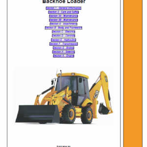 JCB 210S, 212S, 210SL Backhoe Service Manual