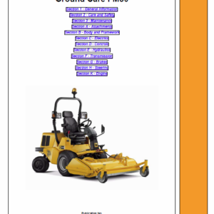 JCB ZT 20D Mower Service Manual