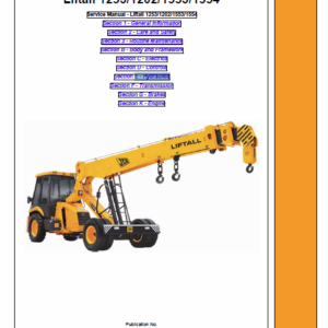 JCB 1253, 1202, 1553, 1554 Liftall Service Manual