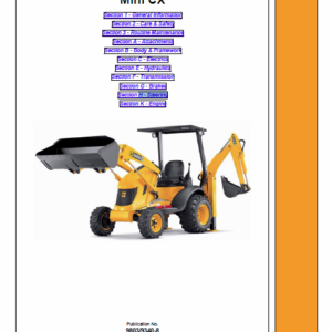 JCB Mini CX Backhoe Loader Service Manual