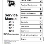 JCB 8013, 8015, 8017, 8018 Mini Excavator Service Manual