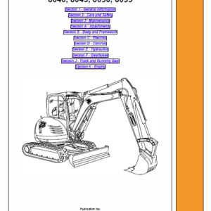 JCB 8040, 8045, 8050, 8055 Mini Excavator Service Manual