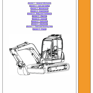 JCB 8056 Mini Crawler Excavator Service Manual