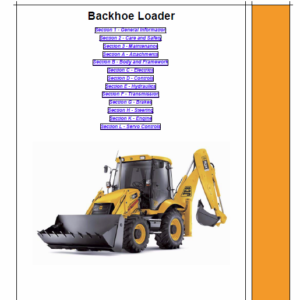 JCB 3C, 3CX, 4CX Backhoe Loader Service Manual
