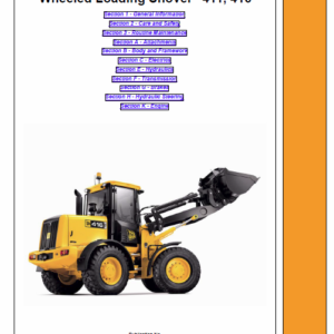 JCB 411, 416 Wheeled Loader Shovel Service Manual