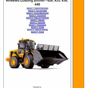 JCB 426, 435, 436, 446 Wheeled Loader Shovel Service Manual