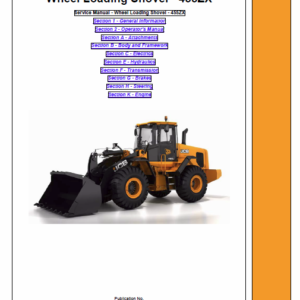 JCB 455ZX Wheeled Loader Shovel Service Manual