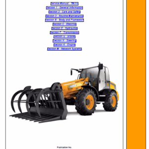 JCB TM310 Wheeled Loader Shovel Service Manual