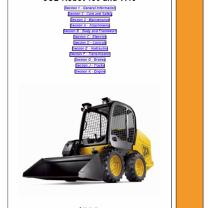 JCB 190, 190HF, 1110, 1110HF, 190T, 190THF, 1110T, 1110THF Skidsteer Loader Manual