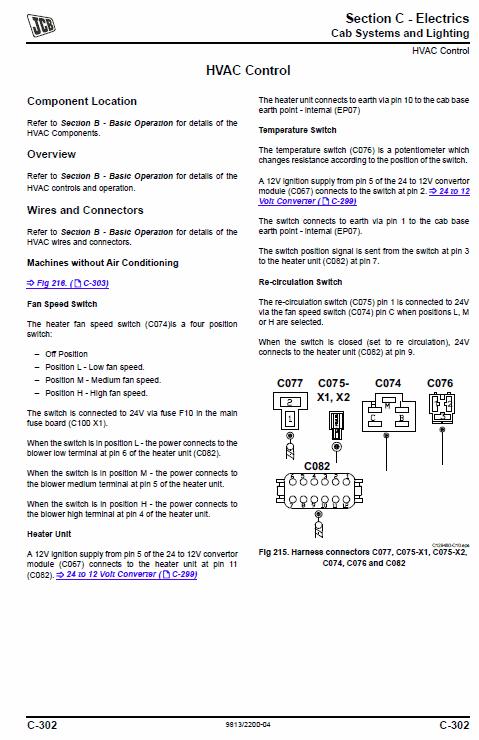 Jcb Js115, Js130, Js145, Js160, Js180, Js190 T4i Tracked Excavators Service Manual
