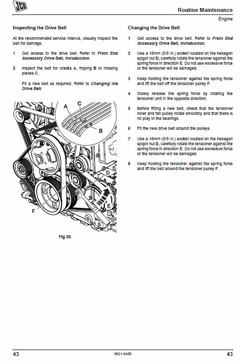 Jcb Js210lc Tracked Excavator Service Manual