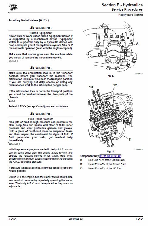 JCB TM180, TM220 Wheeled Loader Service Manual