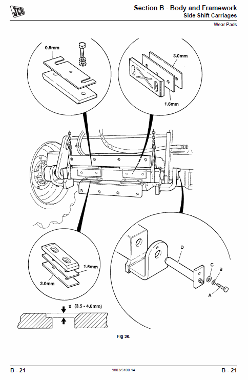 jcb 926 930 940, b rtfl rough terrain fork lift service manual  4