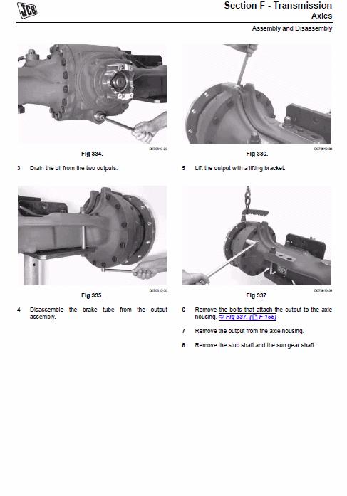Jcb 422zx Wheeled Loader Shovel Service Manual