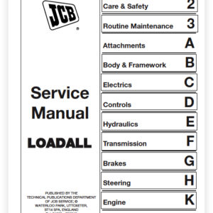 Jcb 520-55, 526-55 Rs And Aws Loadall Service Manual