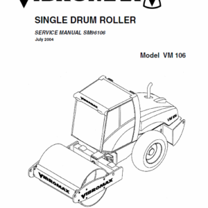 Jcb Vibromax Vm106 Single Drum Roller Service Manual