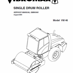 Jcb Vibromax Vm46 Single Drum Roller Service Manual