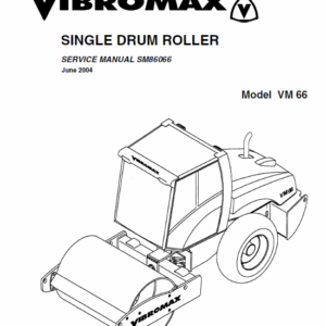 Jcb Vibromax Vm66 Single Drum Roller Service Manual