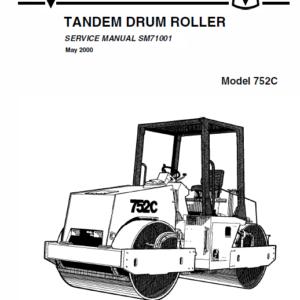 Jcb Vibromax 752c Tandum Drum Roller Service Manual