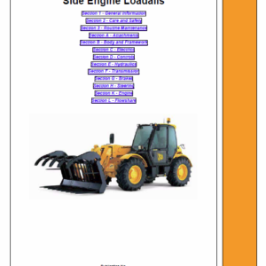 Jcb Telescopic Handlers Loadalls 531-70 – 540-170 Series Service Manual