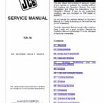 Jcb 526-56 Loadall Telescopic Handlers Service Manual