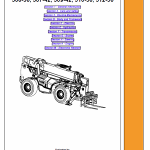 Jcb 506-36, 507-42, 509-42, 510-56, 512-56, 514-56, 516-42 Loadall Service Manual