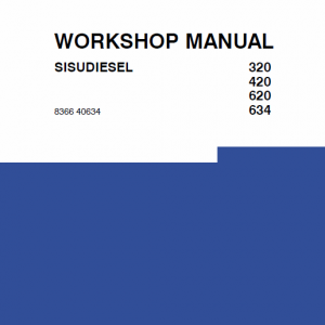 Sisudielsel 320, 420, 620, 634 Engines Workshop Service Manual