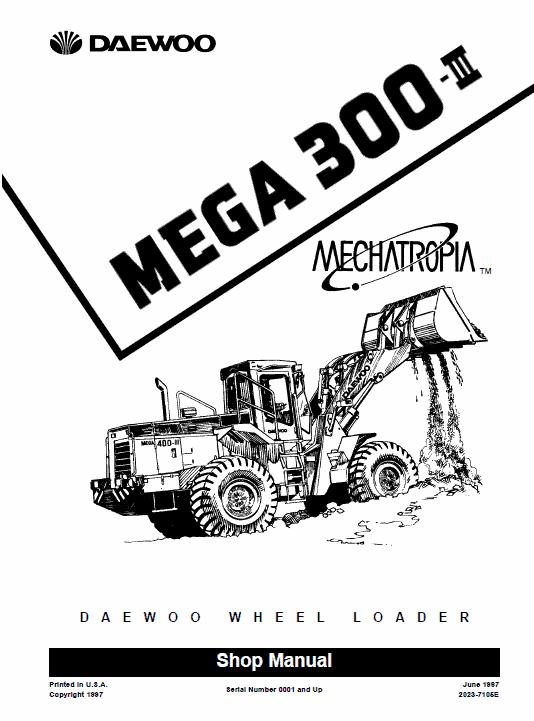 Doosan Daewoo Mega 300-iii Loader Service Manual