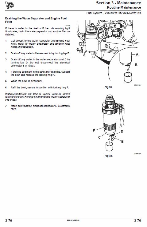 Jcb Vibromax Vm46d, Vm75d, Vm115d, Vm132d, Vm146d, Vm166d, Vm200d Tier 3 Manual