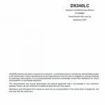 Doosan Daewoo Dx340lc Excavator Service Manual