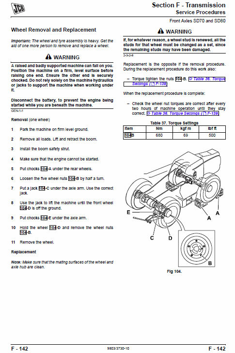 Jcb Telescopic Handlers Loadalls 531-70 – 540-170 Series Service Manual