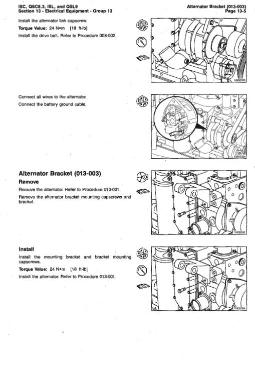 Cummins Isc, Qsc8.3, Isl And Qsl9 Engines Shop Service Manual