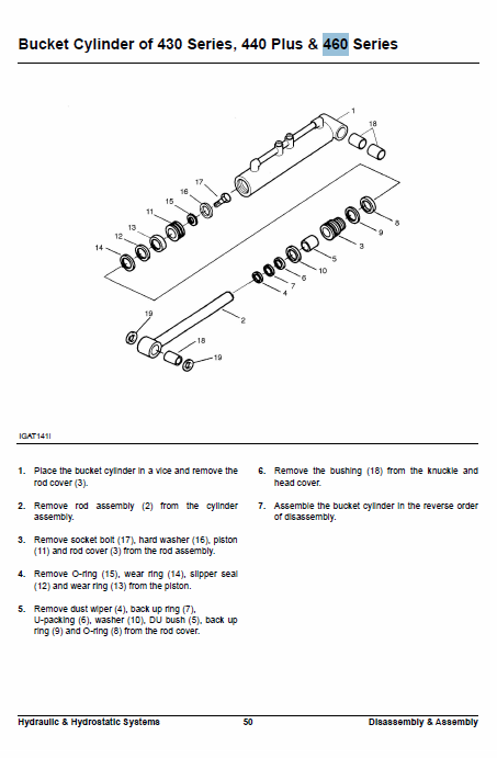 Doosan Daewoo 430, 440, 450, 460 Skid-steer Service Manual