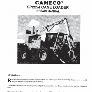 Cameco 2254 Loader Repair Service Manual