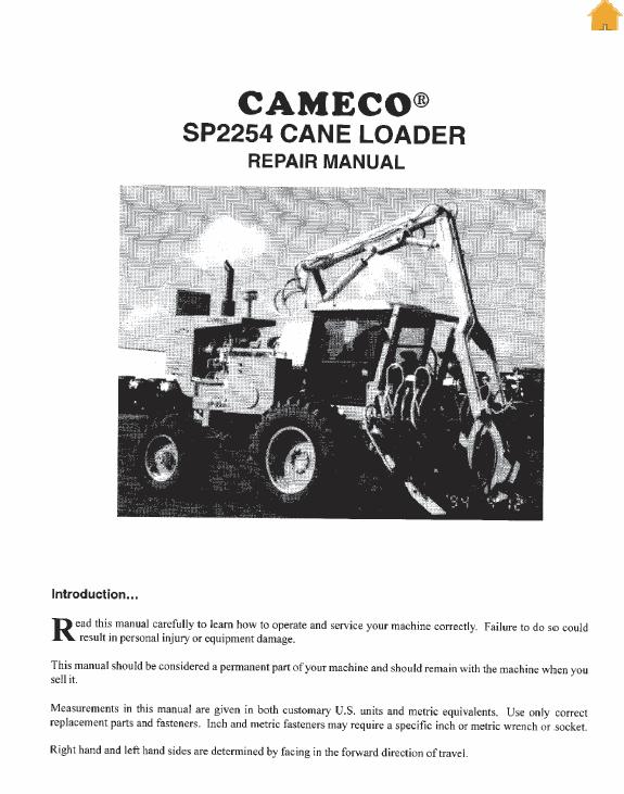 Cameco 2254 Loader Repair Service Manual