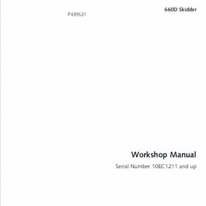 John Deere 660d Skidder Service Manual Tm-1124