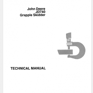 John Deere 740 Skidder Service Manual Tm-1059 & Tm-1101