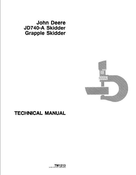 John Deere 740A Skidder Service Manual TM-1213