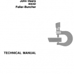 John Deere 493D Feller Buncher Technical Manual TM-1415
