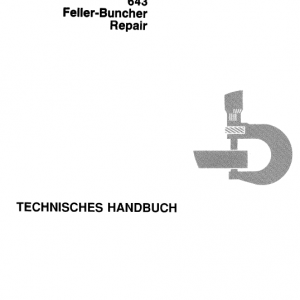 John Deere 643 Feller Buncher Service Manual